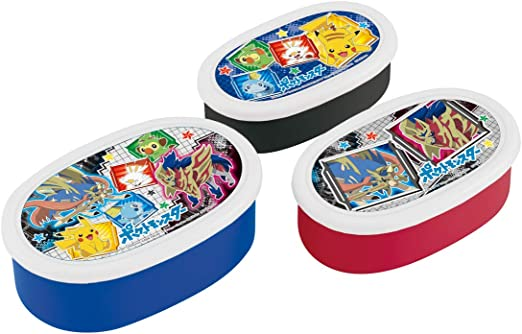 Skater storage containers Bento Box Set of 3/Pokemon Sun /& Moon 2018/New Design Made in Japan SRS3S