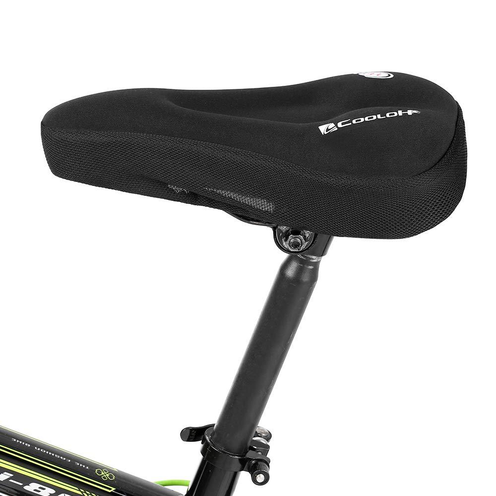 16cm Lixada Sill/ín de Bicicleta de Gel Suave C/ómodo Silicona Acolchado Coj/ín de Bicicleta Asiento para MTB Monta/ña Bicicleta 28