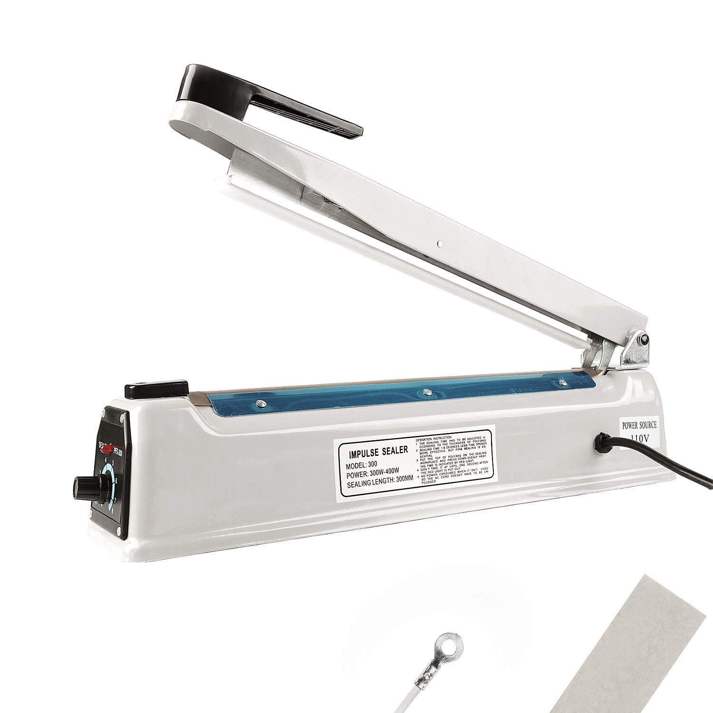 HeiGuno 8 200mm 110V Metal Shell Impulse Manual Hand Sealer Heat ...