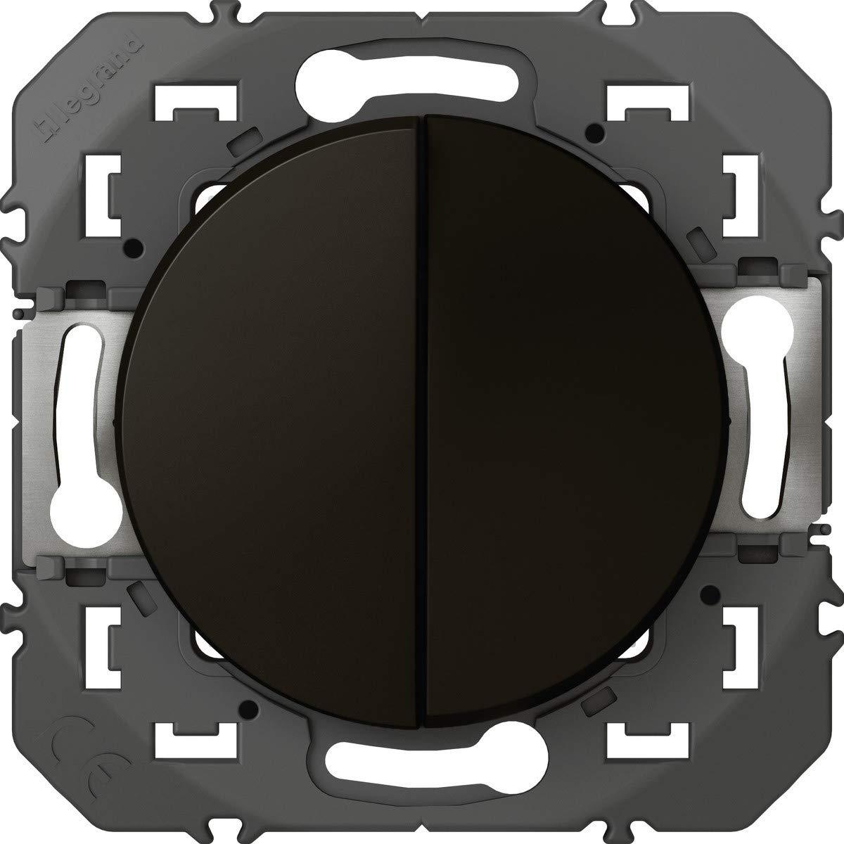 Legrand leg95260/doble VV Interruptor o interruptor conmutado dooxie 10/AX 250/V ~ acabado noir-emballage Blister