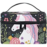 Cooper girl Unicorn Are Real Cosmetic Bag Travel Makeup Train Cases Storage Organizer