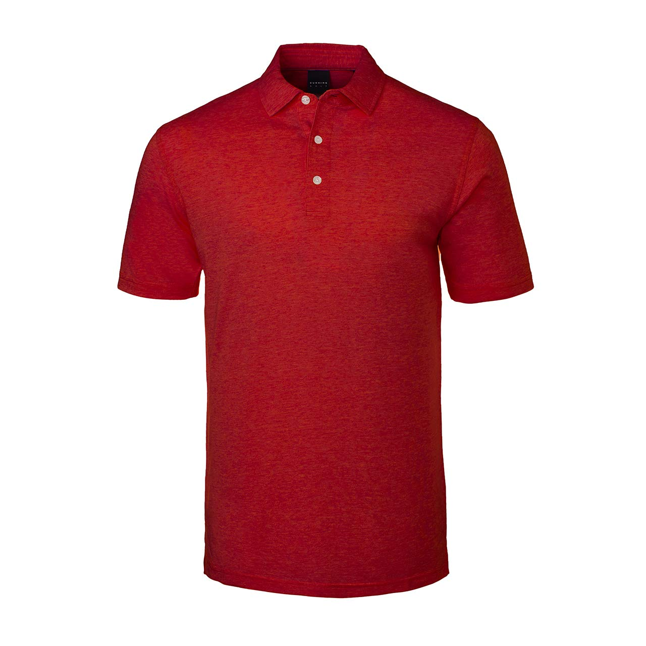 Amazon Dunning Mens Natural Hand Polo Heather Red M Sports