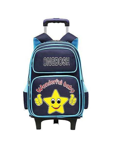 Zhuhaijq Trolley Mochila Bandolera con Ruedas - Niños Niñas Estudiante Cute Star Impermeable Mochila Escolar Travelbag Equipaje: Amazon.es: Ropa y ...