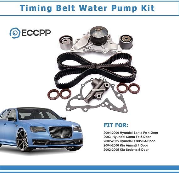 For 1999-2005 Hyundai Sonata Timing Belt Kit and Water Pump 72334GJ 2004 2003