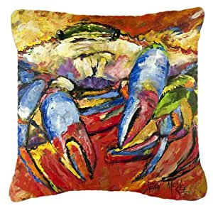 Cangrejo rojo tela de lona almohada decorativa–JMK1252PW1414