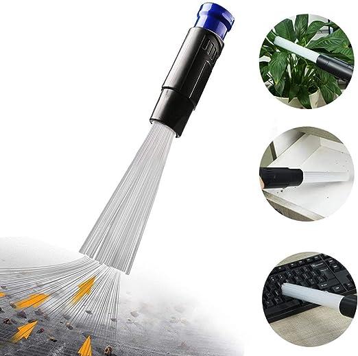 DIKER Accesorios para aspiradoras Vacuum Brush Aspirador Universal Ventilación/Teclados/Cajones/Coche/Artesanía/Joyería/Plantas (Azul)