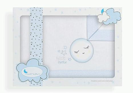 Sábanas Minicuna Felices Sueños Blanco Azul - Sábanas Minicuna 100 ...