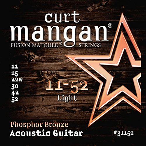 Curt Mangan Phosphor Bronze Acoustic Guitar Strings Light 11-52