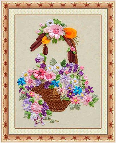 Amazoncom 3d Silk Ribbon Embroidery Kit Handmade Oriental Wall