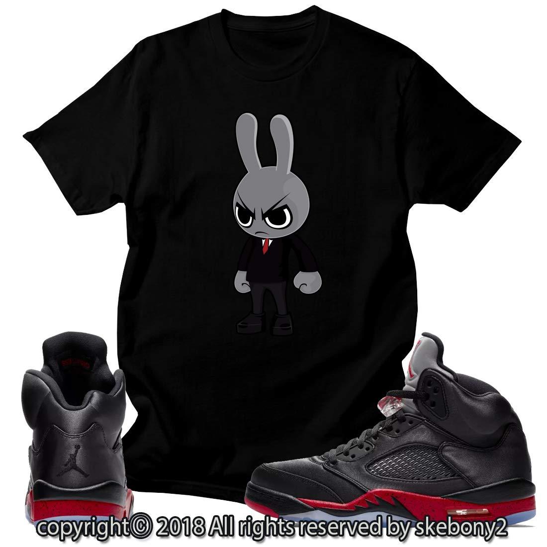 best loved 221f9 27cb6 Custom T Shirt Matching Style of Air Jordan 5 Retro Satin Bred JD 5-1-15-3  at Amazon Men s Clothing store