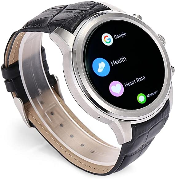 Finow Smart Watch X5 Air Wearable Devices Android OS 2GB RAM 16G ROM Heart Rate Monitor Pedometer WiFi 3G Bluetooth Watch Phone (Silver)