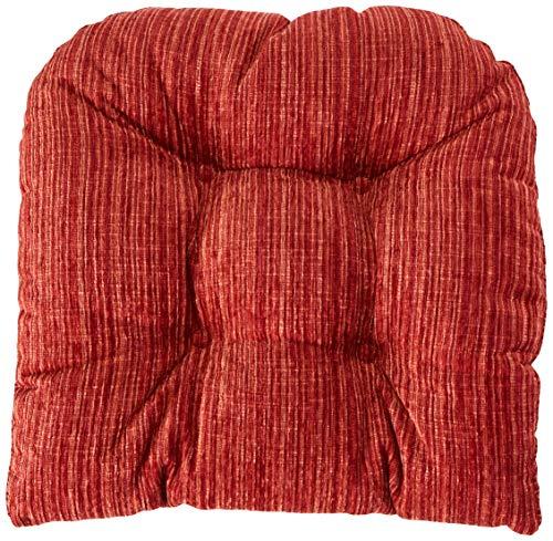 Klear Vu Polar Garnet Non Slip Overstuffed Large Dining Chair Pad, 17