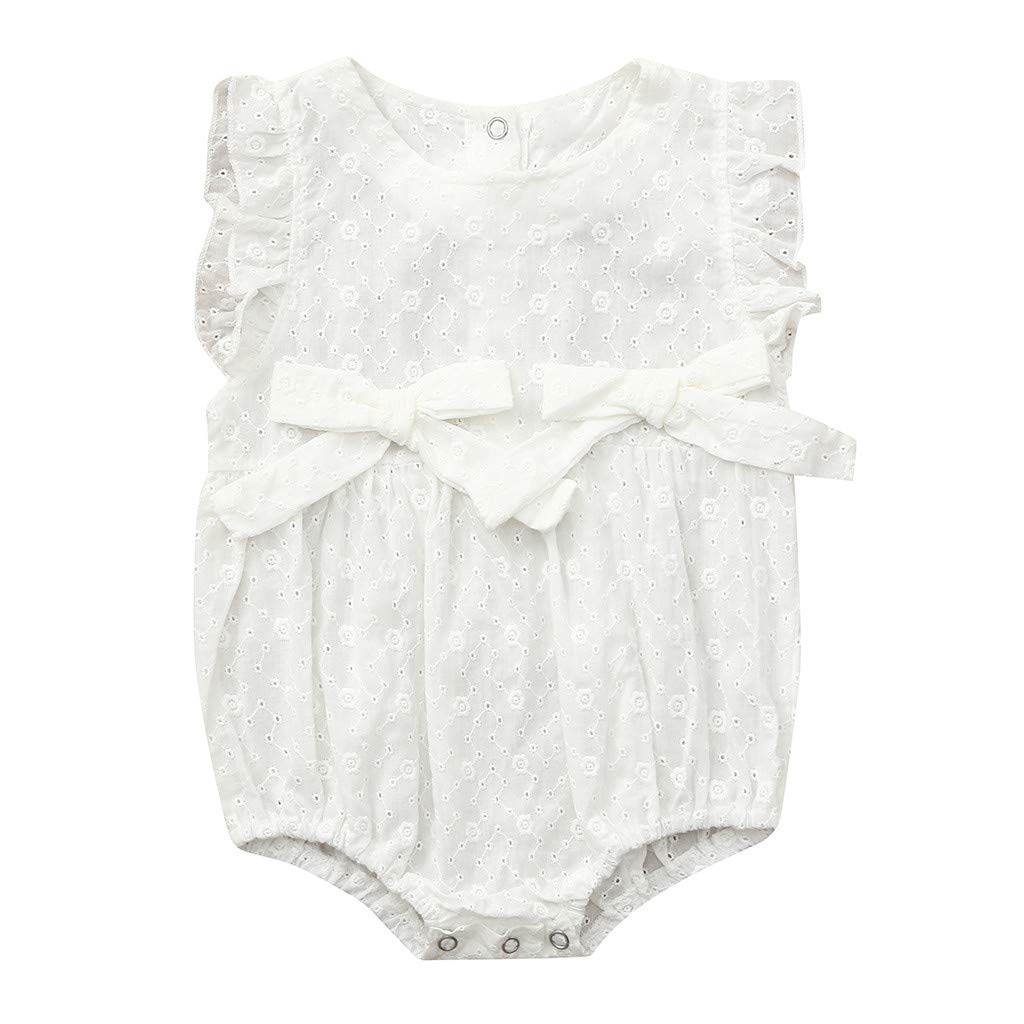 0-2Years,SO-buts Toddler Kids Baby Girl Ruffle Bowknot Romper Floral Print Bodysuit Brief Romper Summer Clothes