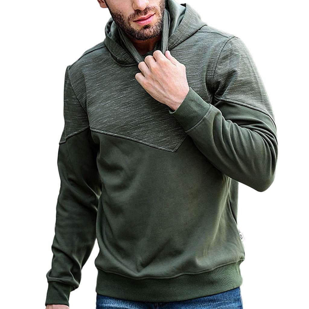 Festiday Mens Graphic Sweatshirts 2018 Casual Regatta Waterproof Jackets Mens Mens Cashmere Mask Splicing Pullover Long Sleeve Hooded Sweatshirt Tops Blouse