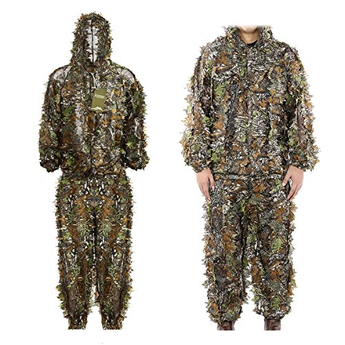 Eamber Ghillie Suit 3D Leaf Realtree Camo Camouflage Lightweight Clothing Suits for...