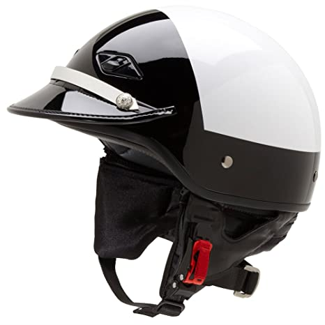 Amazon.com: Official Police Motorcycle Helmet w/ Patent Leather Visor (Black/White, Size Small): Automotive