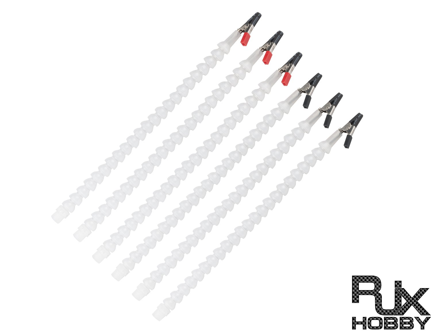 RJXHOBBY 6 Helping Hands Third Hand Soldering Arms Flexible Arms With 6 Swiveling Alligator Clips