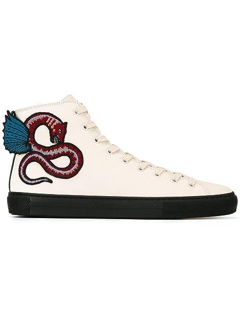 Gucci Hombre 459283BX0A09064 Blanco Cuero Zapatillas Altas  Amazon.es   Zapatos y complementos 11d6cc592d7