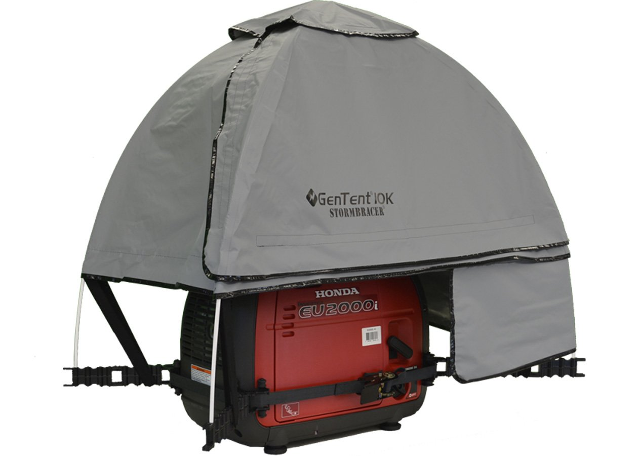 GenTent 10K Generator Tent Running Cover - XKI Kit (Standard, GreySkies) - Compatible with 1000w-3000w Inverter Generators by GenTent Safety Canopies