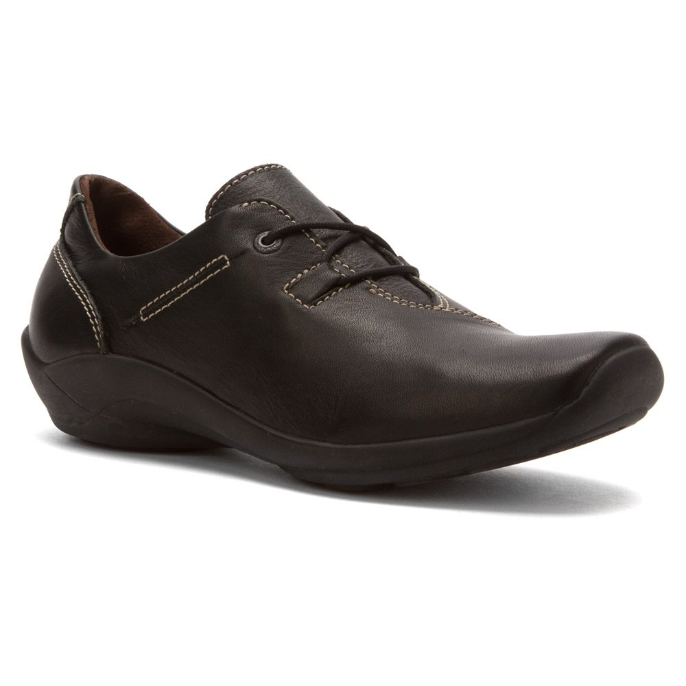 Wolky Comfort Lace up Shoes Dutch B00C7MWBK6 39 M EU|Black Greased Leather