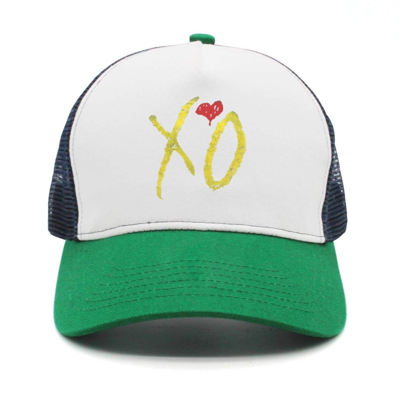 Unisex Mesh Trucker Hat for Womens Mens The-Weeknd-XO-Heart Caps