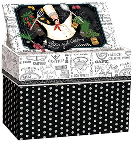 (Lang 2011084 Let's Get Cooking Recipe Card Box by Lori Lynn Simms Multicolor)