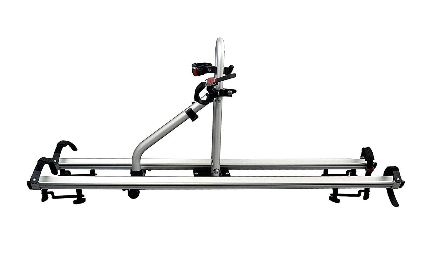 CyclingDeal Alloy Car Roof Bike Bicycle Carrier Rack for 2 Bikes Max Load 66 lbs – SUV Rooftop Mounted