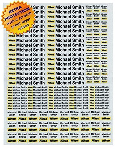 (Personalized Waterproof 3M Sticker Labels for Your Photo Accessories, Canon, Nikon, Fuji, Sony Camera Accessories kit)