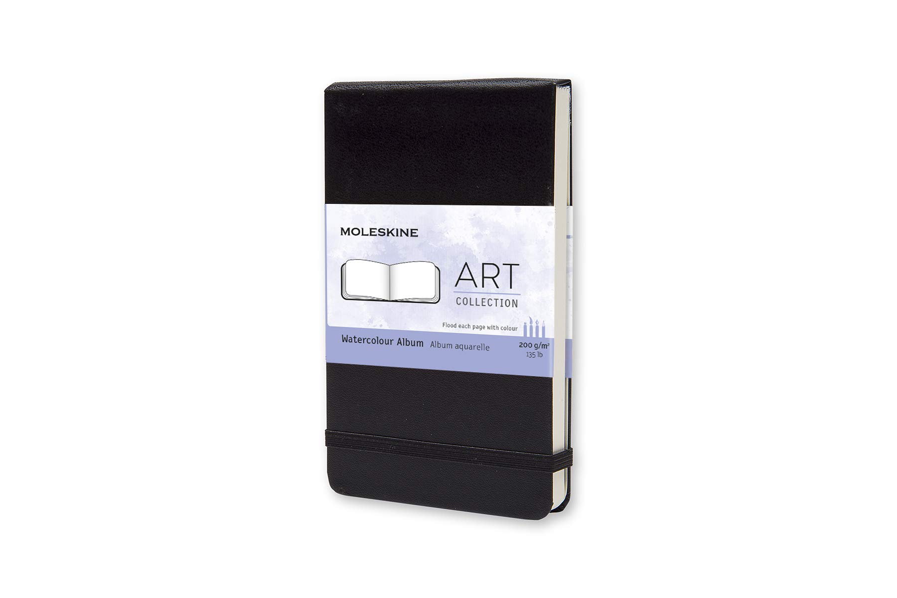 Moleskine Art Plus Hard Cover Watercolor Album, Plain,...