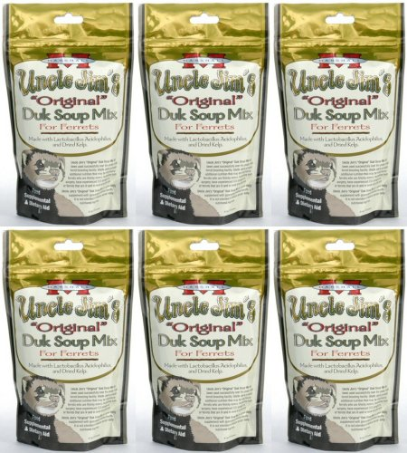 Marshall Uncle Jim's Original Duk Soup Mix for Ferrets 1.69Lb (6 x 4.5oz) by Marshall