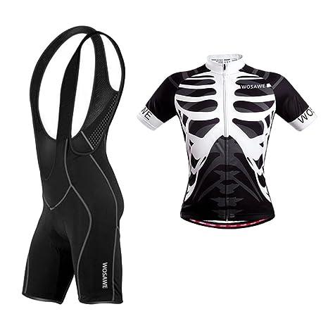 Baoblaze Men s Shorts Bib and Jersey Full Zipper Shirt Top Cycling Kits Set  Road Bike Outdoor 0b080fa89