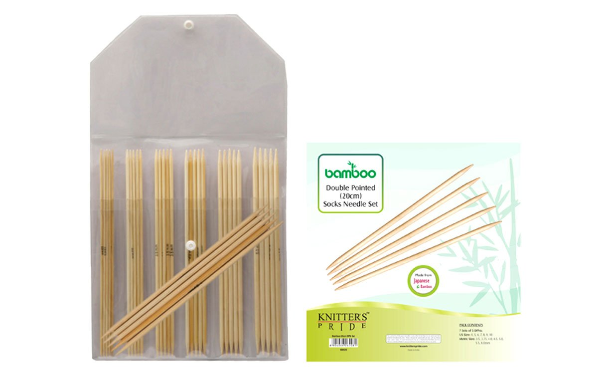 Knitter's Pride Bamboo Double Pointed 8-inch (20cm) Knitting Needles Set 900526 by Knitter's Pride B00G15WJJ8