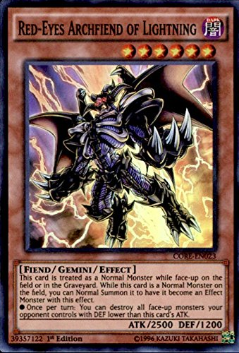 Yu-Gi-Oh Clash of Rebellions Single Card Super Rare Red-Eyes Archfiend of Lightning CORE-EN023 by Yu-Gi-Oh! Konami