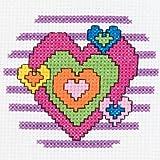Bucilla My 1st Stitch Counted Mini Cross Stitch Kit, 45457 Heart