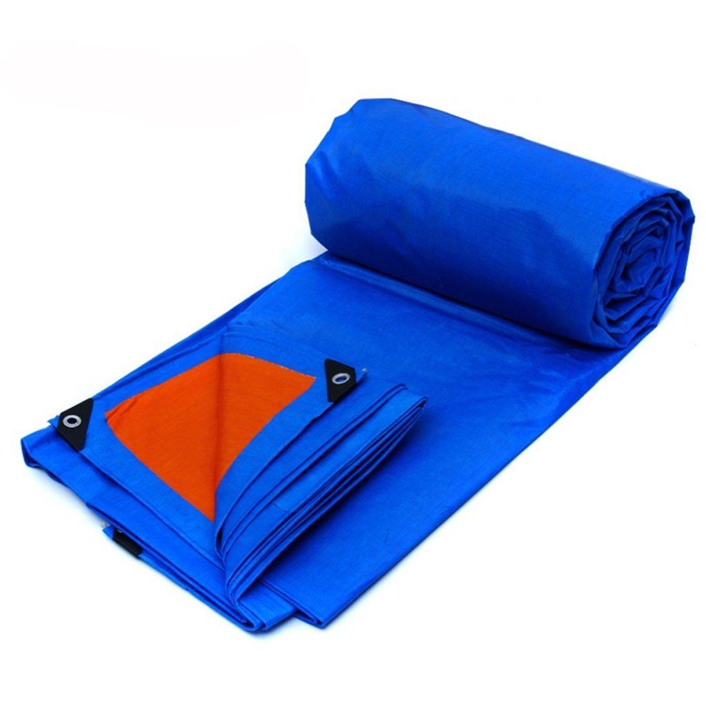 bleu Orange 86M Qifengshop Heavy Duty Strong imperméable Tarpaulin Couvre-Sol pour Le Camping Pêche Jardinage en Plein air Jardin Décoration Décoration Coupe-Vent et Rainproof Tarp Bleu