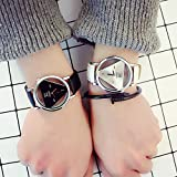 Generic Send women girls lady Harajuku style triangle bracelet watch sports Shi Ying watches fashion hollow couple watch man boy and women girls lady students