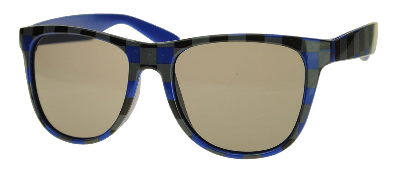 Immerschön Sonnenbrille transparent blau verspiegelt im Wayfarer-Design Retro Bluesbrothers Nerd Unisex AQ1y0