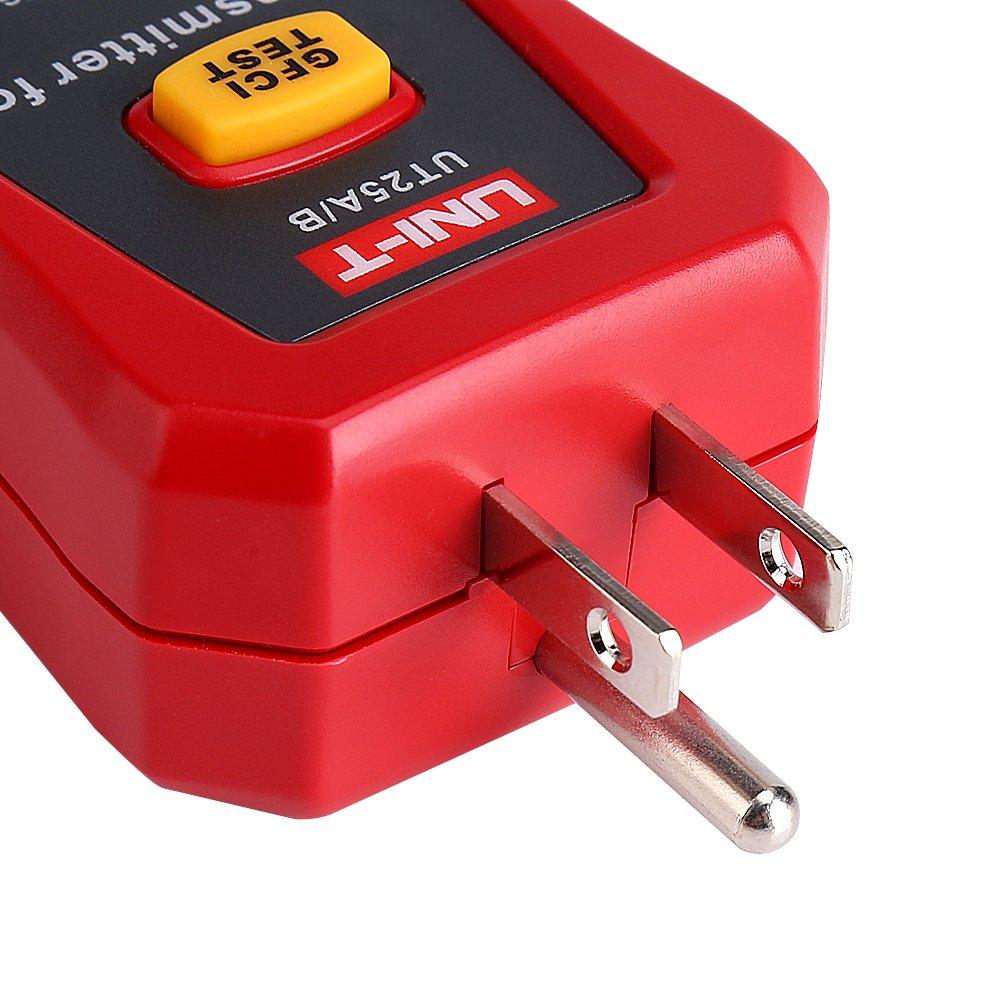 Testeur Disjoncteur Finder UNI-T Professional Sensibilit/é R/églable Socket Testeur Outil de Diagnostic pour la Reconstruction de R/éseau Electrique de lUsine de Bureau de la Maison