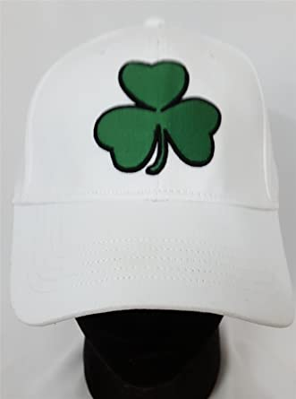 a7c699a8d876d American Eagle Outfitters White with 3 Leaf Clover Adult Baseball Cap L XL   Amazon.co.uk  Clothing