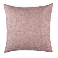 Homier Pink Color Linen Blend Decorative Pillow Cover Throw Cushion Case - Pi...