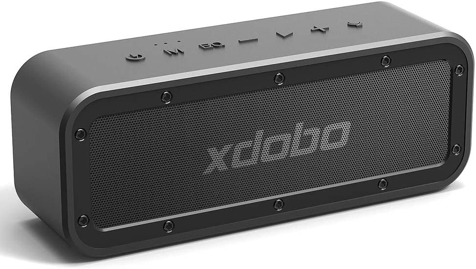 XDOBO 40W Portable Bluetooth Speaker 5.0 with Waterproof IPX7 15 Hour Playtime TWS Dual Driver Wireless Speakers for Outdoor Home Bar Party Travel Beach Shower Hiking Camping, Black