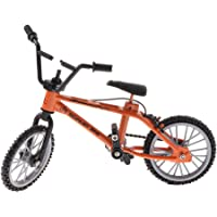Baoblaze Fashion 1/24th Mountain Bicycle Model Toy Finger Bike Creative Toy Desk Gadget Party Bag Fillers –Orange