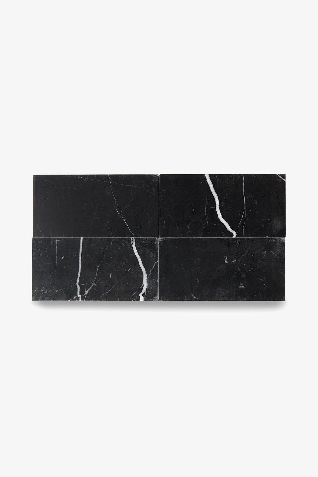 Waterworks Studio Stone Field Tile 3'' x 6'' in Eclipse Polished