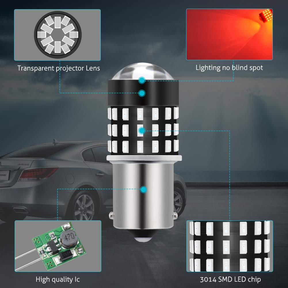 4-pack TUINCYN 3157 3156 Turn Signals LED Bulb Super Bright 3056 3057 4157 4057 3157 T25 LED Bulb 3014 54-EX Chipsets Light Bulb for Brake Light Backup Reverse Light DC 12V-24V Xenon White
