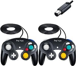 Controle Gamecube, controles com fio SogYupk, 2 unidades de joystick para Nintendo e Wii Console Game Remote