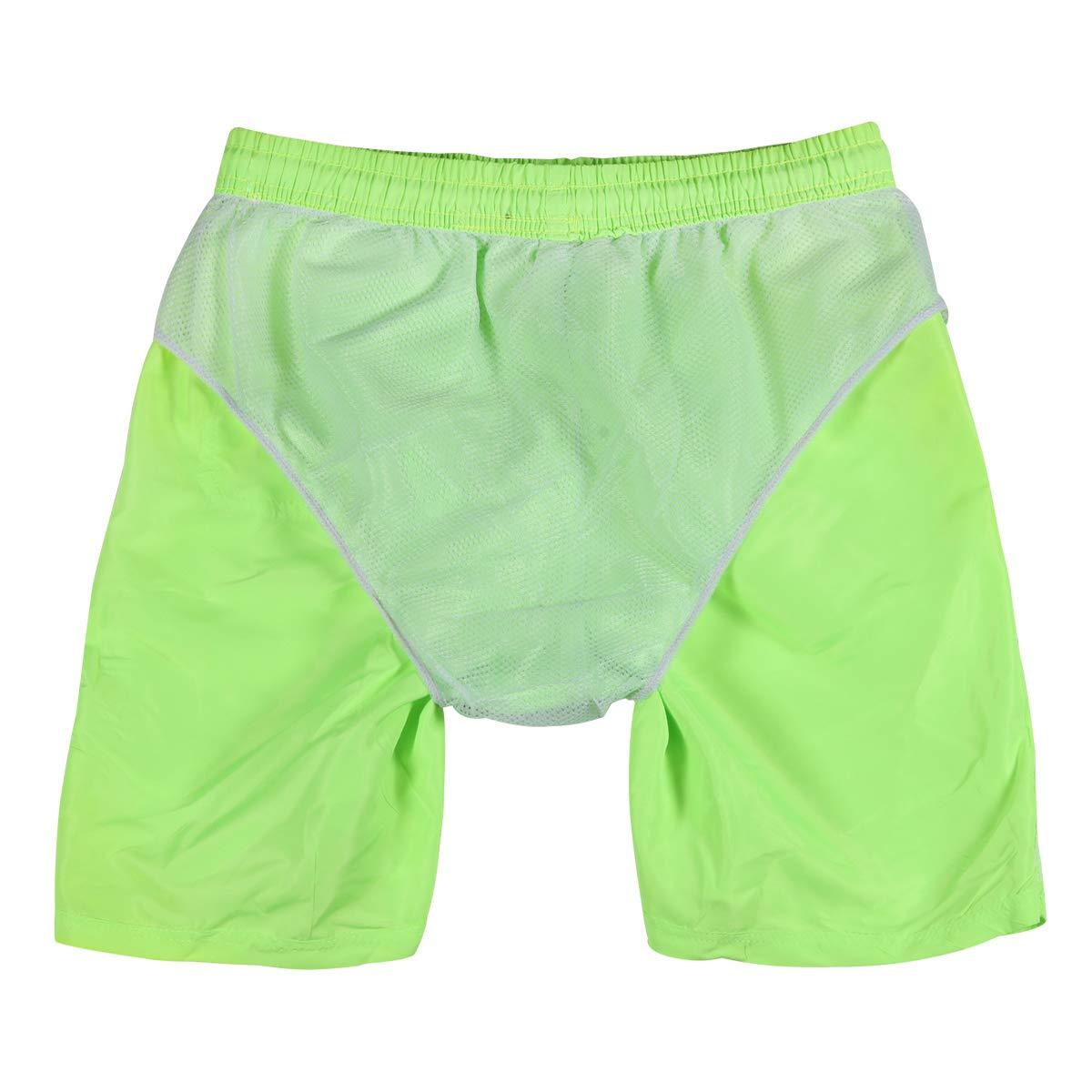 LEIDAI Men\'s Outdoor Water Sports Surfing Boardshorts Swim Trunks (Fluorescent Green, XXL)