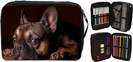 Francés Bulldog animales estuche escolar 124: Amazon.es: Oficina y papelería