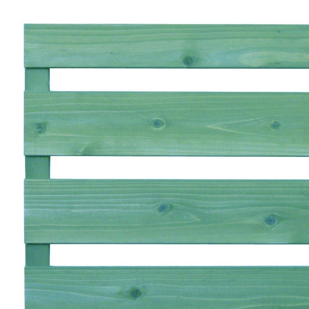 枠付き フェンス 横板B(隙間36ミリ)国産杉【上下枠】 幅1940×高さ1090×奥行36mm GG(グレイッシュグリーン)色 B07C3NTBPG 幅1940mm,GG(グレイッシュグリーン)