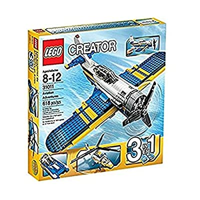 LEGO CREATOR 3-in-1 Aviation Adventure Building Set - Helicopter & Boat| 31011: Toys & Games