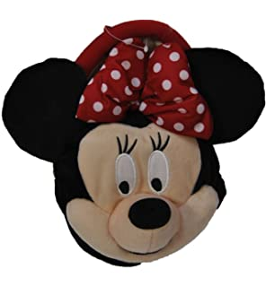 Authentic Disney Minnie Mouse w/ bow Plush Girls Short Strap Purse Bag